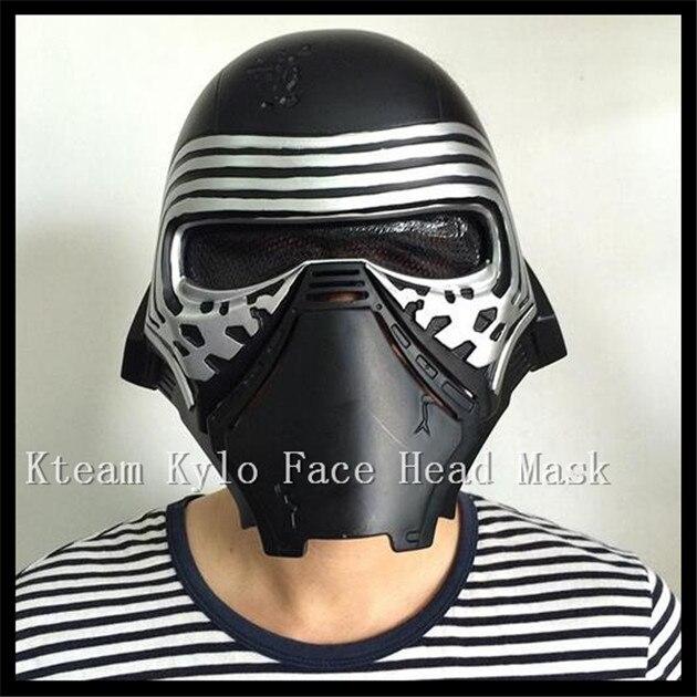 Nova Kylo ren Filme Máscara Máscara Facial Roleplay Darth Vader de Star Wars The Force Desperta Capacetes Capacete Stormtrooper cosplay Dia Das Bruxas