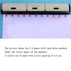 T hongo agujero disco encuadernación hoja suelta Puncher ajustable 9 agujeros perforadora libro suelta hoja perforadora Perfurador de Papel Perforadora