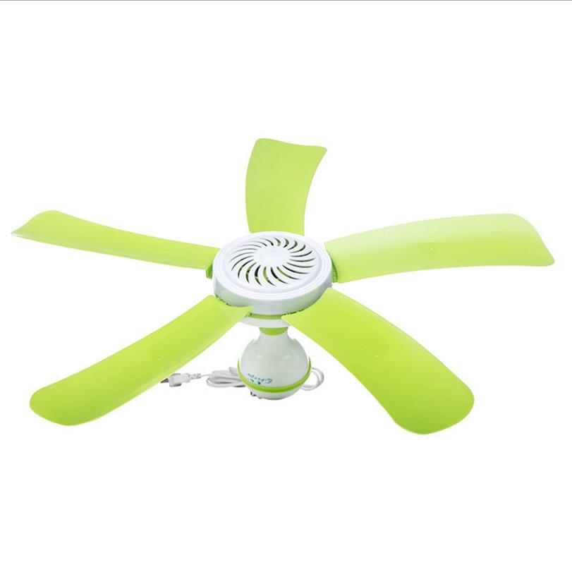 Super Silent Household Ceiling Fan 220V 7W Energy Saving Fan ABS 5 blades Sleep/Natural Wind hanging Fan Home Student Dorm Use