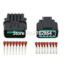 цена на 10 Sets 10 Pin automotive connector headlamp plug black with   terminal DJ7101Y-2.2-11/21 10P car connector