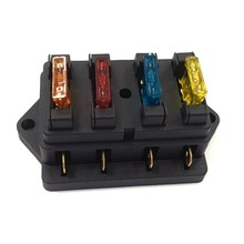 Fuse Holder Box 4Way Car Vehicle Circuit Automotive Blade Fuse Box With 5A 10A 1