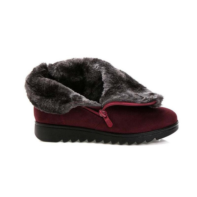 Women Ankle Boots New Fashion Waterproof Wedge Platform Winter Warm Snow Boots Shoes For Female 3