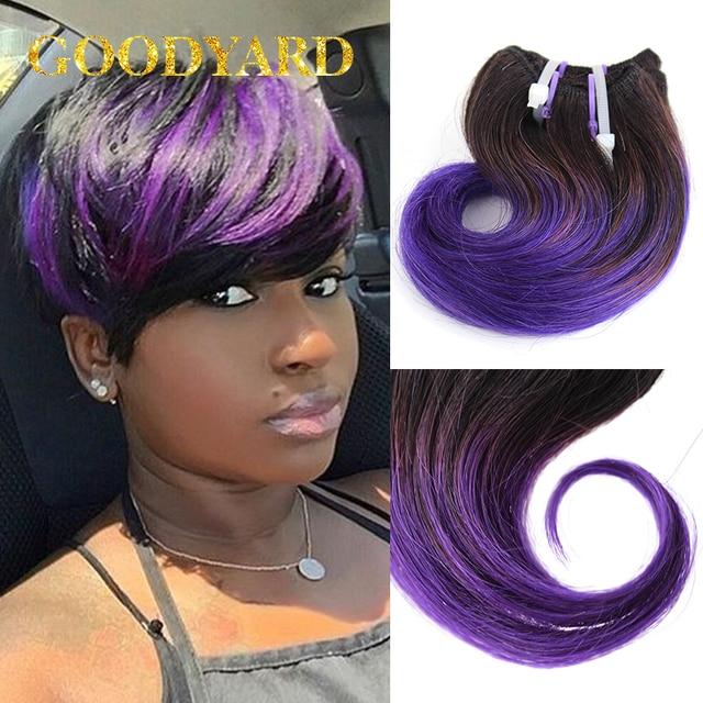 Purple Hair 12pcspack 150g Ombre Brazilian Hair Cheap 6a Brazilian