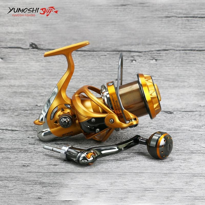 10BB Spinning Reel Fishing 5.5:1Carbon Casting Fishing Reel Metal Handle Line Cup Stainless Steel Seawater Bearing Fishing Reel