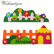 WISHMETYOU New Creative Flowers Felts For Diy Decoration Kindergarten Walls Stickers House Fence Felting Cute Handmade Crafts