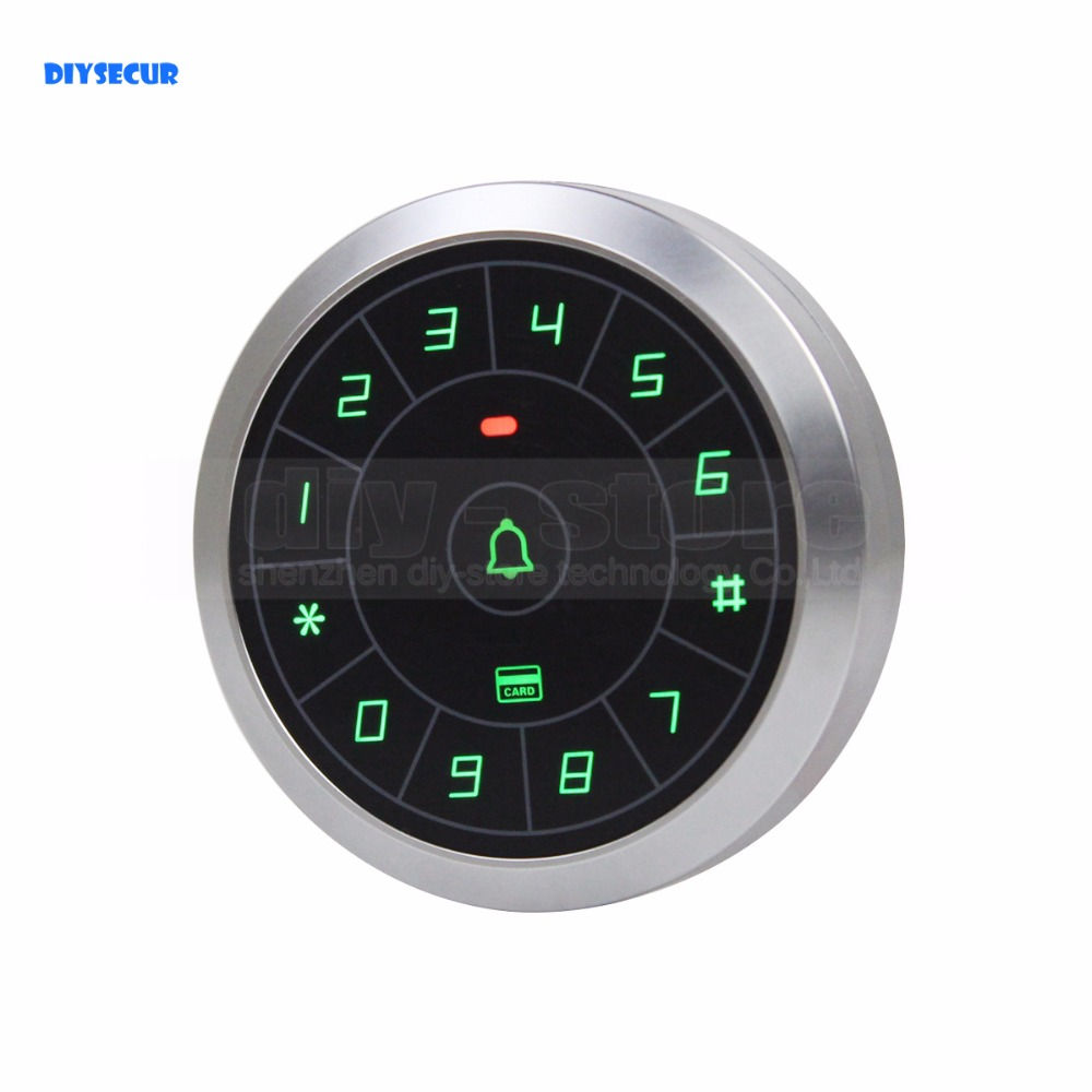 DIYSECUR Touch Button Backlight Door Access Controller RFID Card Reader Metal Case Password Security Keypad For House Office diysecur metal case touch button 125khz rfid card reader door access controller system password keypad c20