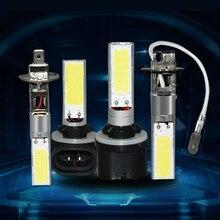 1X H1 H3 880 881 w 12 10 v Do Carro de Alta Potência COB LED Branco Fog Lâmpada Luz de Condução Da Lâmpada lâmpada LED Auto Luz de Circulação Diurna DRL
