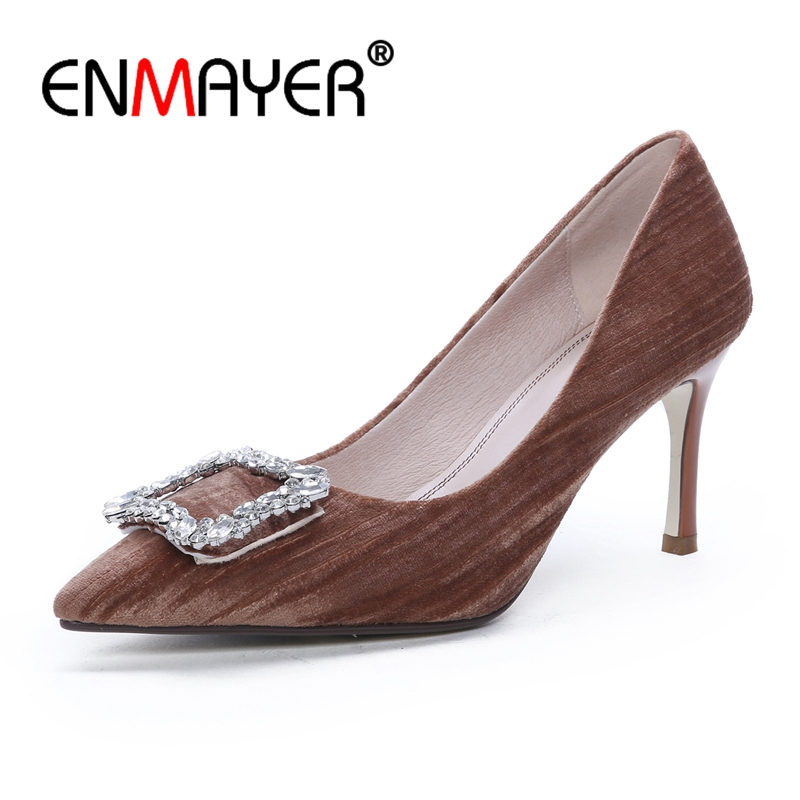 ENMAYER  Pointed Toe  Casual   Slip-On  Women Shoes  Zapatos Mujer Tacon  Sandalia Feminina  Calzado Mujer  Size 34-39 ZYL2700ENMAYER  Pointed Toe  Casual   Slip-On  Women Shoes  Zapatos Mujer Tacon  Sandalia Feminina  Calzado Mujer  Size 34-39 ZYL2700