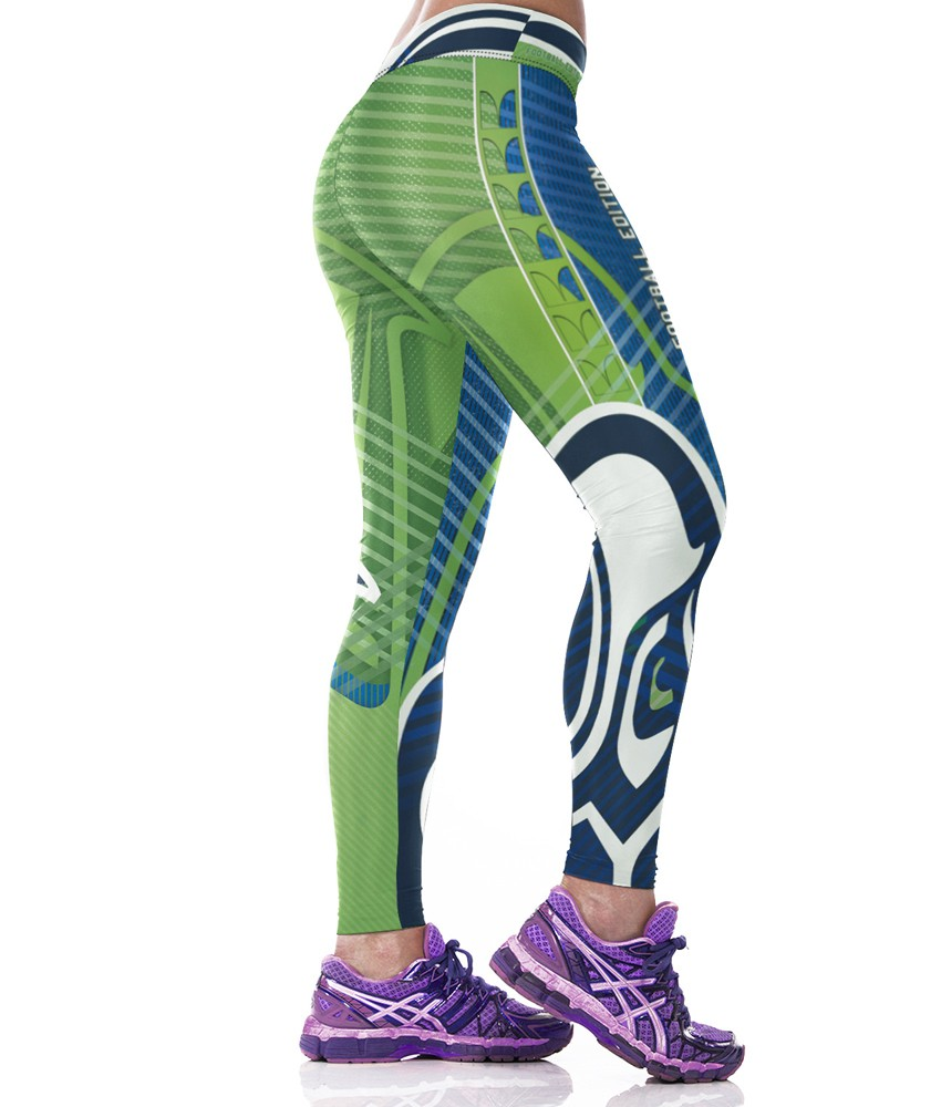 Woman Yoga Pants Fitness Fiber Sport Leggings Seattle Seahawks Sports Tights Trousers Exercise Training Gym Clothing Sportswear (2)