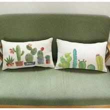 Funda de cojín de 45 y 45x30x50 para decoración del hogar y el coche, funda de almohada colorida con diseño de Cactus, funda de cojín decorativa de hogar