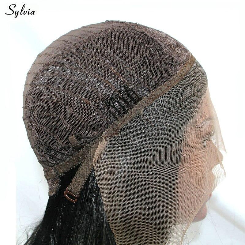 Sylvia Natural Wave Rökrosa Wig High Temperature Fiber Lång Hår - Syntetiskt hår - Foto 6