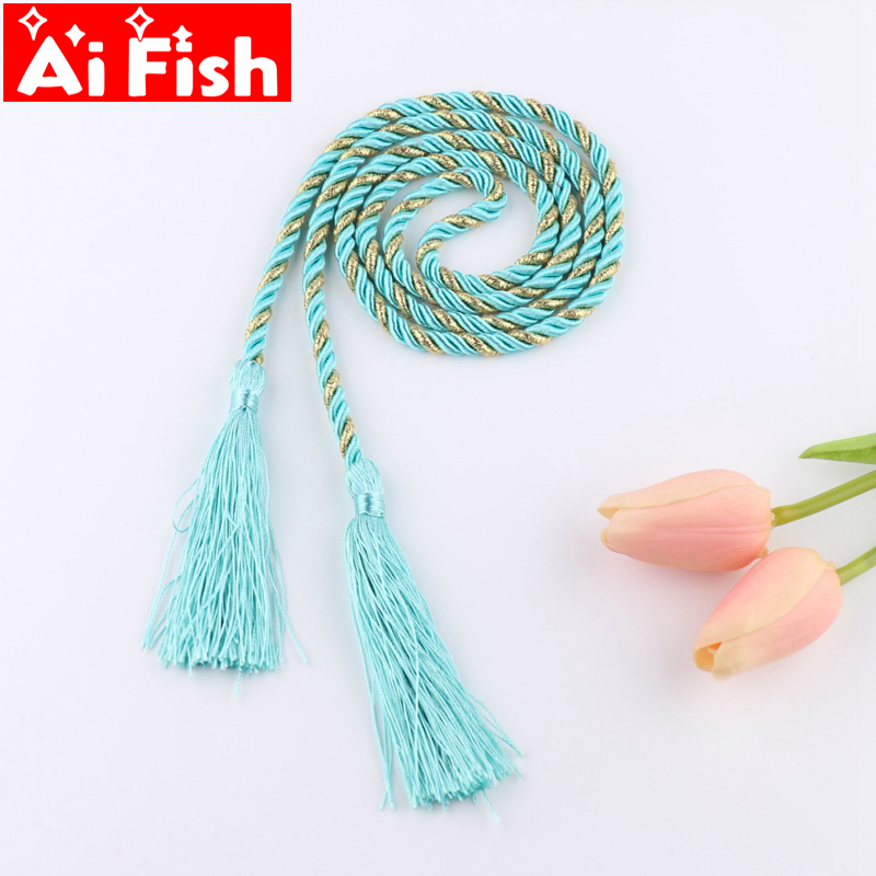 Colorful Hand Woven Weaving Tassel Tie Rope Curtain Accessories Ties Tied Lanyard Simple DIY Rope Hanging For Home Party Decor ...