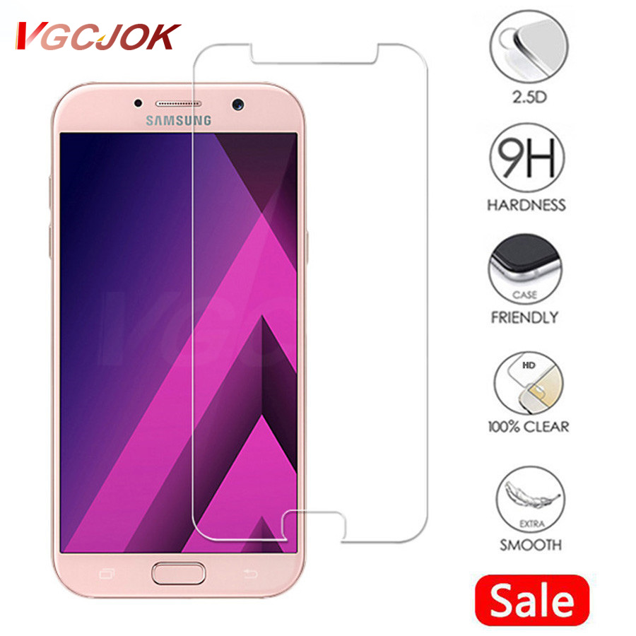 9H Protection <font><b>Glass</b></font> On The For <font><b>Samsung</b></font> Galaxy A3 A5 A7 J3 <font><b>J5</b></font> J7 2015 2016 2017 2018 Version Phone Screen Protector <font><b>Glass</b></font> Film image