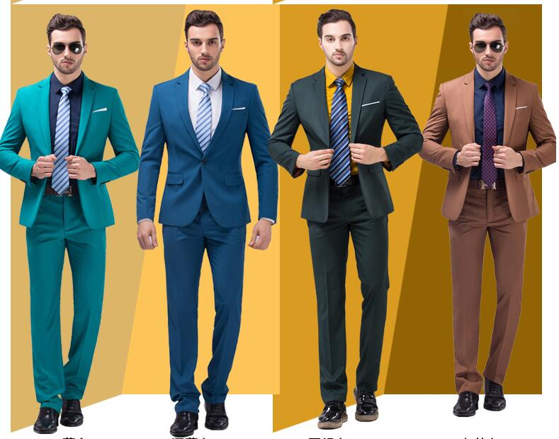Hot Ing 2 Pieces Brown Peak Lapel Men Suits One On Wedding Party Jacket Pants Tie Groomsmen Suit In From S Clothing