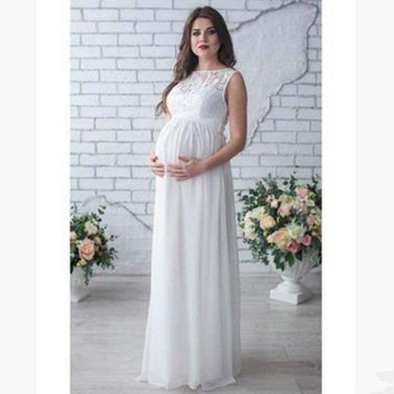 MAGGIE S WALKER Maternity Dress Pregnancy Clothes Lady Elegant Vestidos Pregnant Women Lace Party Formal Evening