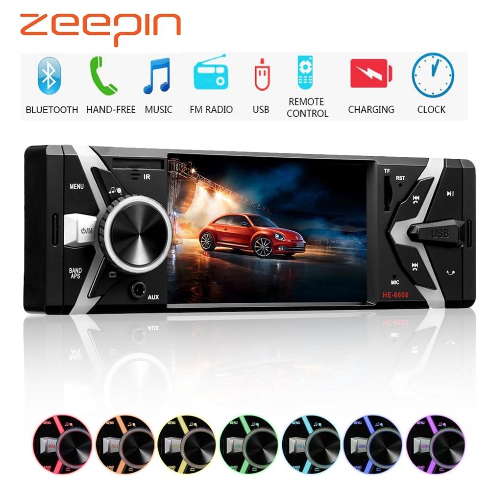 4'' Car MP5 Player Stereo Audio 12V Bluetooth Multimedia Player FM Auto Radio Aux in Receiver SD USB MP3 MMC Remote Control