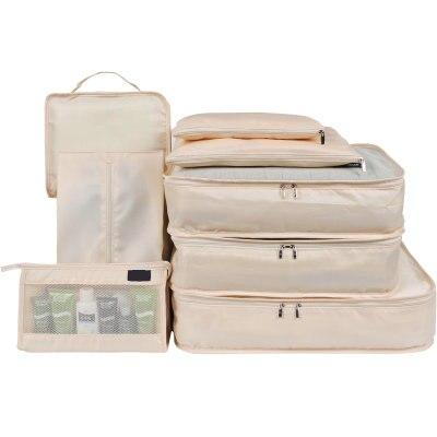 Qualité Nylon tissu organisateur de voyage ensemble 7 pièces/8 pièces organisateur de bagages vêtements chaussure sac voyage sac de rangement