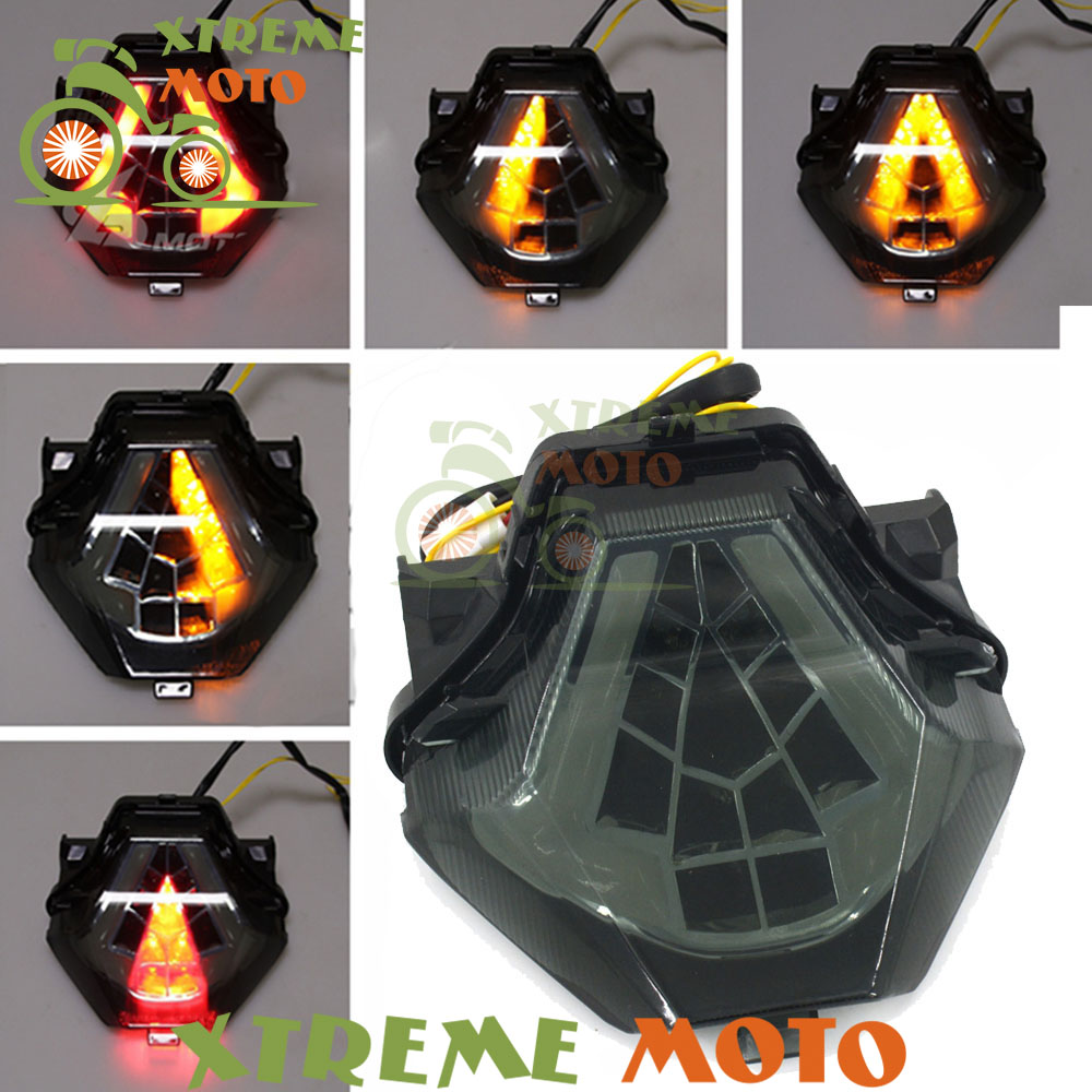 цены Motorcycle LED Rear Turn Signal Tail Stop Light Lamps Integrated For Yamaha YZF R3 YZF-R25 FZ07 MT07 FZ MT 07 2015 2016