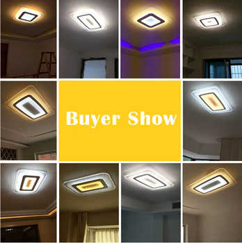 Modern Led Ceiling Lights For Indoor Lighting plafon led Square Ceiling Lamp Fixture For Living Room Bedroom Lamparas De Techo