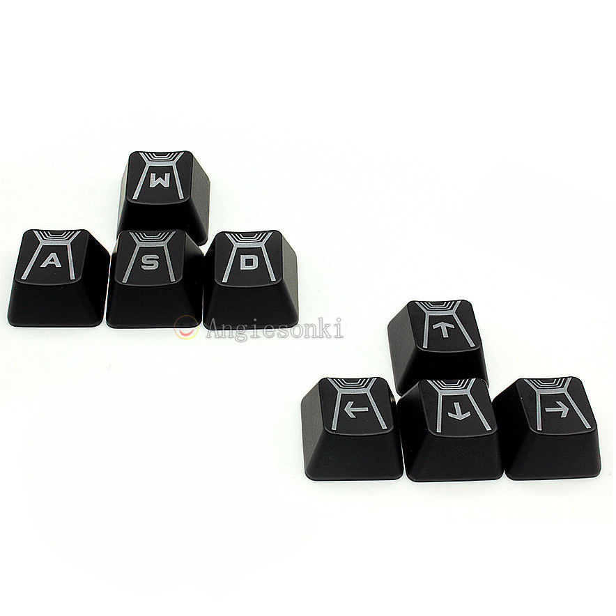 Original W A S D & Direction Arrow Key Caps For Log.itech G910 Romer-G Mechanical Keyboard B3K-T13L Romer G Keyboard Switches