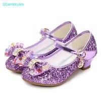 1944bf079 Glitter Kids Wedding Shoes For Girls New Brand Bowknow Princess Sandals  Student Children High Heel Girls. Brillo niños zapatos de boda