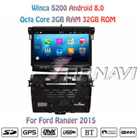 Topnavi Octa Core 10.1'' Android 8.0 Car DVD Multimedia Player for Ford Ranger 2015 Audio Autoradio Stereo 2 DIN GPS Navigation