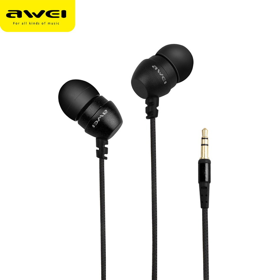 Awei Wired Head Mini Sport Earphones In Ear Phone And Headphone For Running iPhone Buds Earbud In-ear Headfone Kulakl K Earpiece