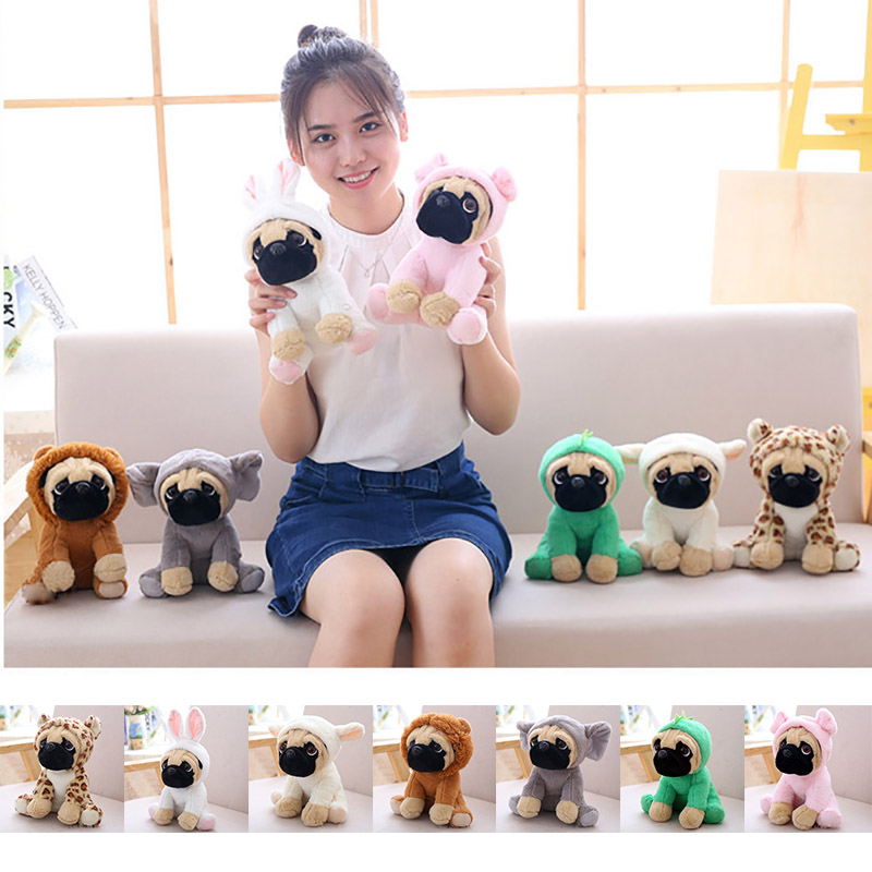 Rainbox 1pcs 20cm Plush Stuffed Simulation Cute Dogs Sharpei Pug Puppy Pet Toy Stuffed Plush Animal Toys For Children Gift kawaii puppy stuffed toys 10 20cm cute simulation husky dog plush toys stuffed doll kids baby toys plush husky dolls