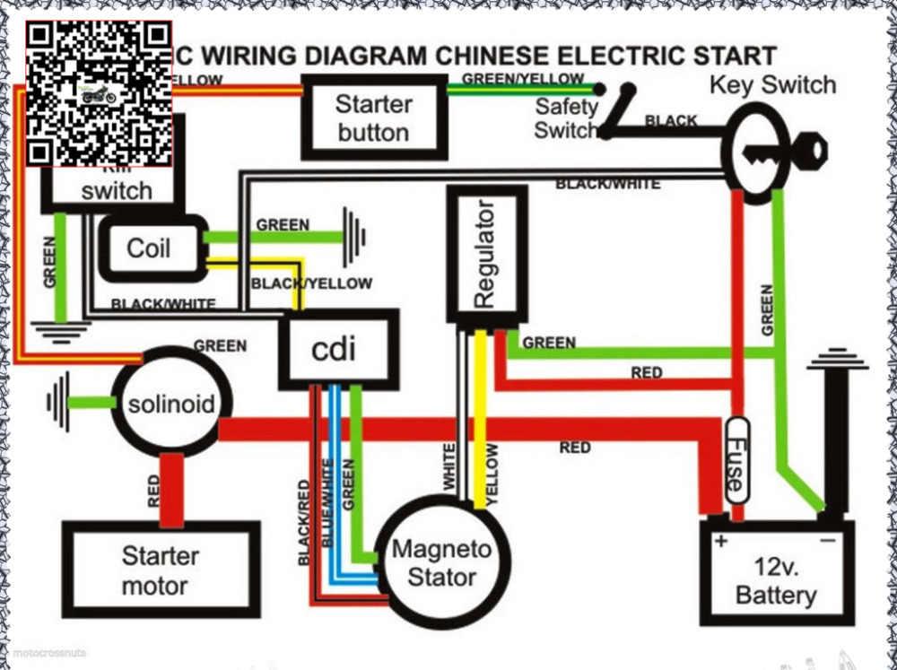 atv spark plug wiring diagram 50cc 70cc 110cc 125cc atv quad electric full set parts wire cdi  50cc 70cc 110cc 125cc atv quad electric