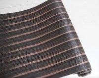 L 2 5Meters Wide 60CM Ebony Veneer Handmade Leather Wood Veneer Speakers With Kraft Paper