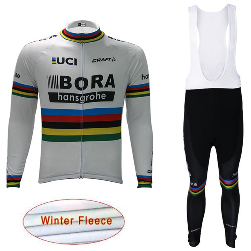 Cycling Jersey 2018 Pro Men MTB Bicycle Clothing Set winter thermal fleece Bike Wear sports Maillot Ropa Ciclismo Bib Pants I15 black thermal fleece cycling clothing winter fleece long adequate quality cycling jersey bicycle clothing cc5081