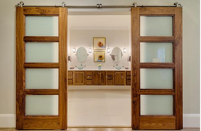 Popular double barn doors buy cheap double barn doors lots for Double hung sliding barn doors