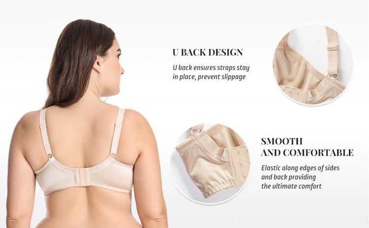 DELIMIRA Для женщин Красота кружева не мягкий Minimizer на полную фигуру, бюстгальтер на косточках