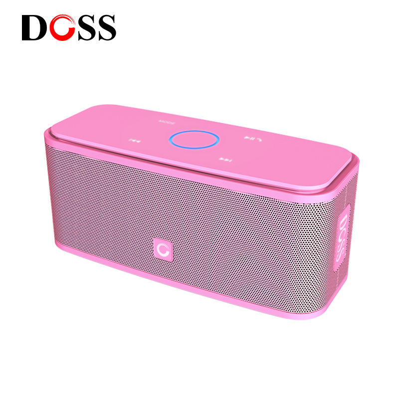 DOSS SoundBox Touch Pink Bluetooth Speaker 2*6W Portable Wireless Speakers Stereo Sound Box with Bass Parlante bluetooth ColumnDOSS SoundBox Touch Pink Bluetooth Speaker 2*6W Portable Wireless Speakers Stereo Sound Box with Bass Parlante bluetooth Column