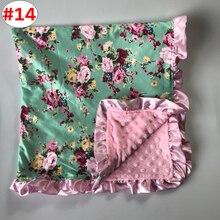 Детское одеяло с рисунком единорога, бархатное модное одеяло для малышей, подарок для душа, 14 стилей