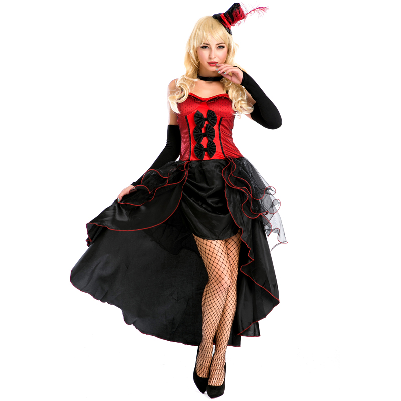 Sexy Princess Queen Cosplay Costume New Women Halloween Carnival Party Dance Queen Costume Red Pink Fashion Stage Dress A158630