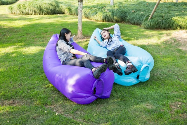 Camping Air Sofa Easy taking with Inflatable sleeping lazy bag inflatable hammock