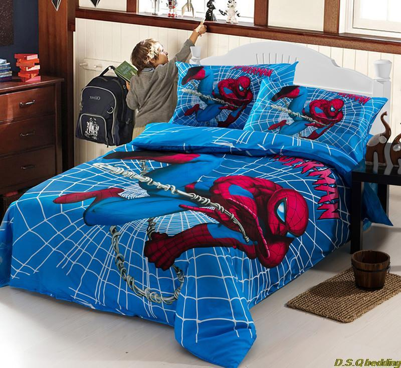 3PCs spiderman kids children boys bedding sets, twin/full ...