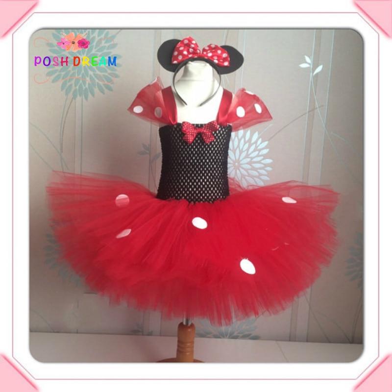 639c5a8d3ca74 POSH DREAM Minnie Cartoon Kids Girl Dress Red Minnie Inspired Cartoon Mouse  Girls Baby Tutu Dress for Cosplay Party Birthday