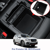 QCBXYYXH Car Styling Armrest Storage Box Center Console Container Bin Tray Holder For Subaru Forester SK 2019 Case Car Organizer