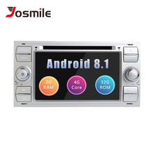 2 din Car Radio Android 8.1 GPS DVD For Ford Focus 2 Ford Fiesta Mondeo 4 C-Max S-Max Fusion Transit Kuga Multimedia Navigation все цены
