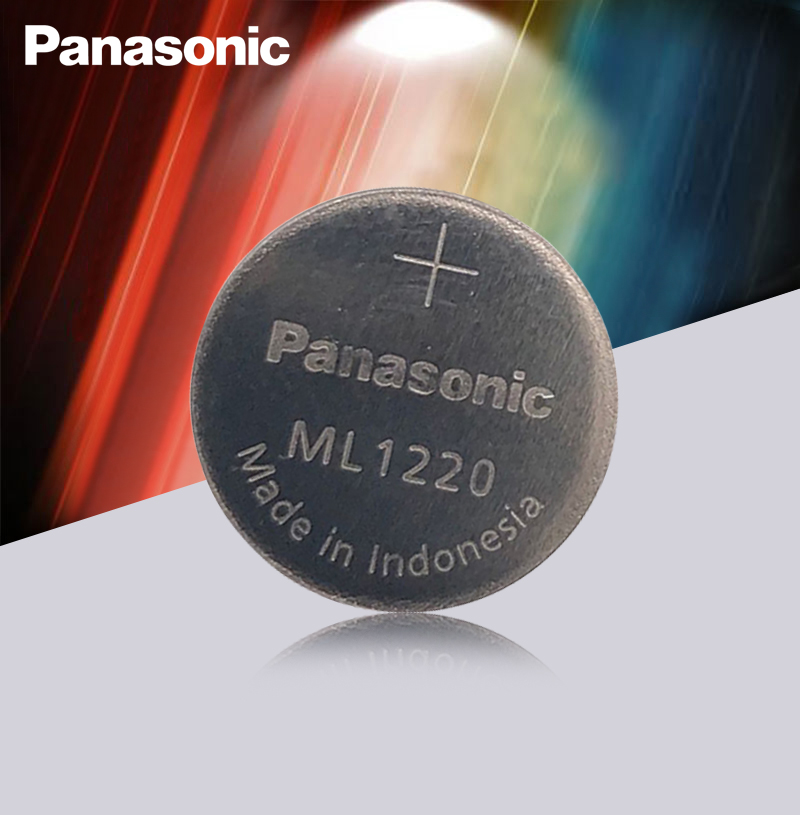 New Original Panasonic ML1220 3V ML 1220 Rechargeable CMOS RTC BIOS Back Up Cell Button Coin Battery Batteries