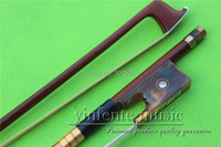 NJX 0050# 4/4 Brazilwood Baroque Violin Bow brown OX horn f rog 1 pcs Straight Pretty inlay Color