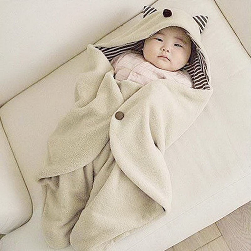 Cute Kids Infant Warm Blanket Swaddle Sleep Sacks Bedding Bag Wrap Soft Cartoon Envelope Baby Blanket