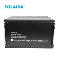 Folaida 9x9x16x16 20x20 24x24 32x32 36x36 ЖК-дисплей видеостена Процессор HDMI VGA HD 1080 P 2x2/oneplus 3/OnePlus x 3 4x4 5x5 видеостена проект