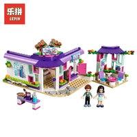 Lepin 01060 Genuine Girl Series The Art Cafe Model Building Blocks Bricks Educational Funny Kids Toys Gifts LegoINGlys 41336