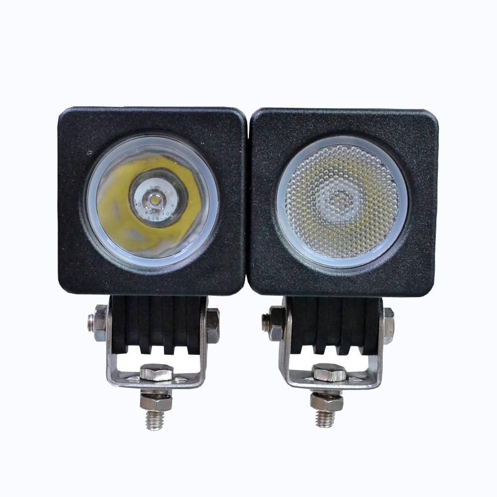 2pcs 10W Round and Square Mini LED Work Light 12V 24V Car Auto SUV ATV 4WD AWD 4X4 Off-road Fog Lamp Motorcycle Truck Headlight