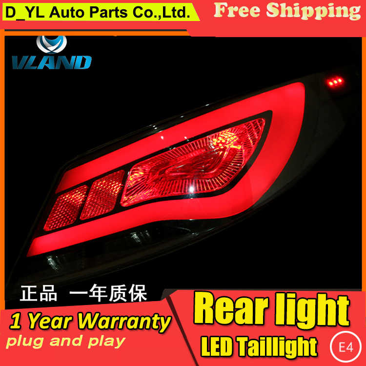 Car Styling Taillight Accessories for Hyundai Verna LED Taillights 2010-2013 Verna Tail Lamp Rear Lamp DRL+Brake+Park+Signal led
