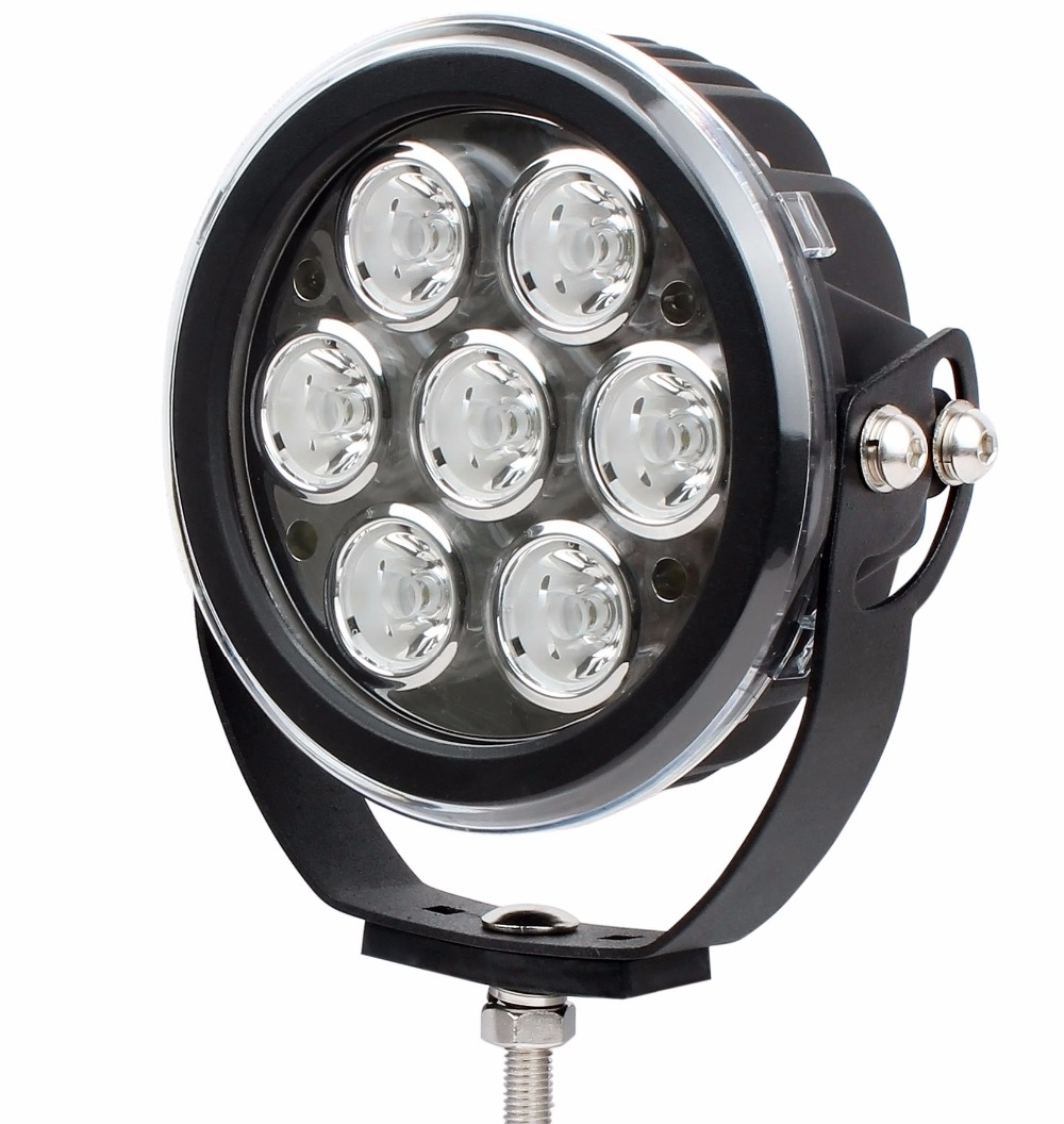 7inch 70W LED Work Light Tractor 4x4 SUV ATV LED Offroad Fog light 12v 24v IP67 Spot / Flood LED Drive Light with the Cover 2 5inch 10w led work light 12v 24v tractor motorcycle atv ip67 spot flood offroad fog light led worklight save on 12w 18w 27w