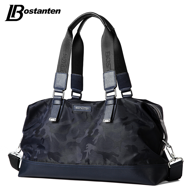 BOSTANTEN New Camouflage Nylon Bag Men Fashion Designer Handbag High Quality Big